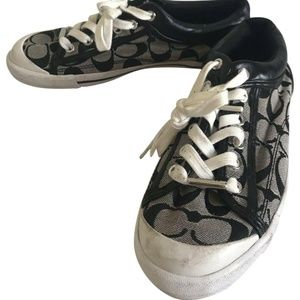 COACH Jacquard All Over Signature Black Sneakers S
